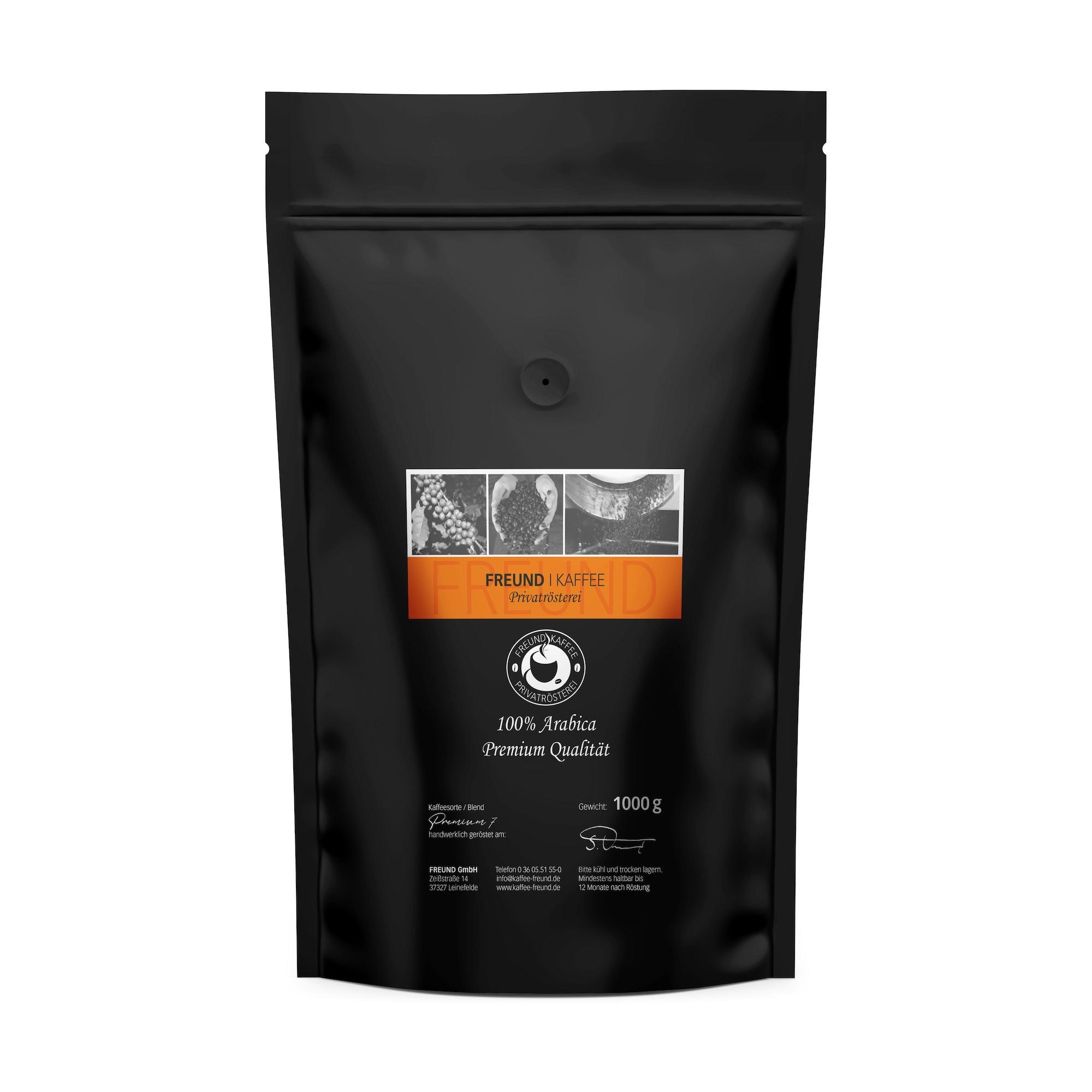 Freund Kaffee Premium 7 1000g Arabica Kaffee Premiumkaffee Privatrösterei